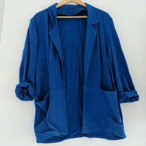 Raw Silk Blue Blazer